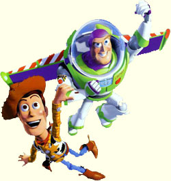 Yellow Wallpaper: Woody and Buzz