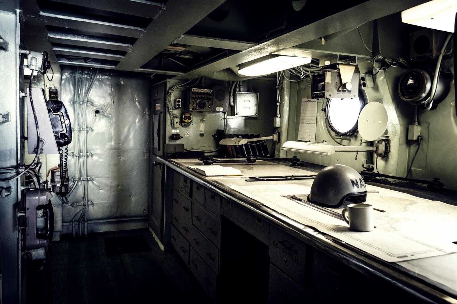 Inside Battleship Missouri in Pearl Harbour, Hawaii