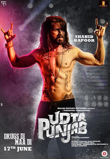 Shahid Kapoor in the movie Udta Punjab.