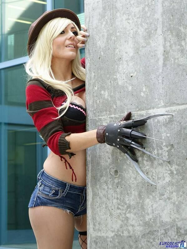 jessica nigri as freddy krueger cosplay 04