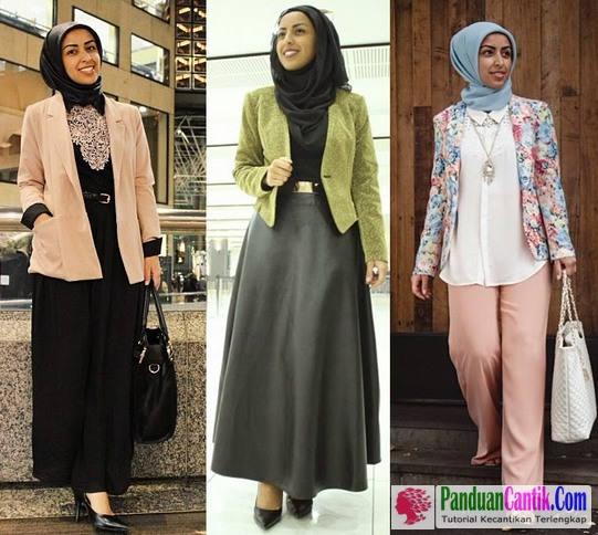 Koleksi Model Blazer Batik Muslimah Modern Untuk Baju Kerja Kantoran Wisuda dan Kondangan Murah berkualitas