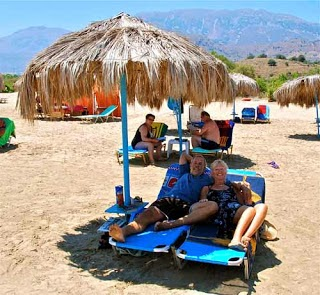 Relaxing on Paradise Beach greek islands