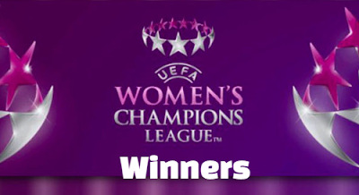 uefa,women's champions league, champions,winners, winning teams .