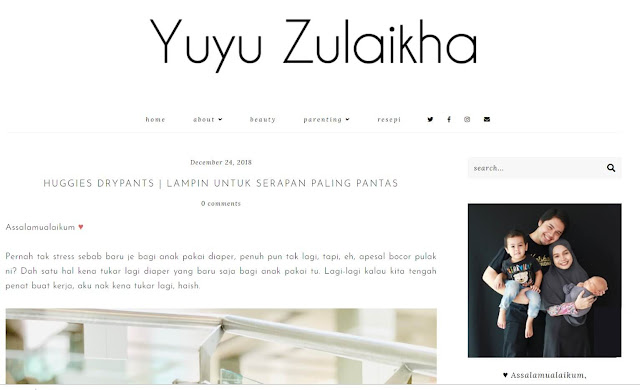 Top 9 bloggers Yuyu Zulaikha
