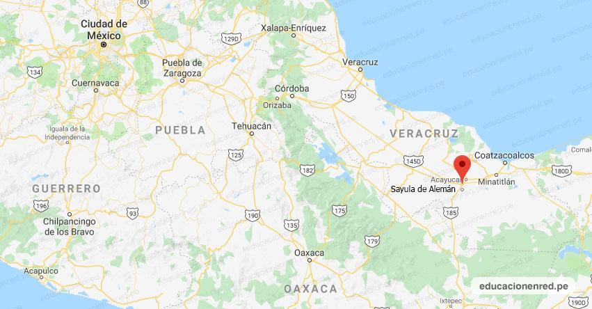 Temblor en México de Magnitud 4.0 (Hoy Miércoles 22 Julio 2020) Sismo - Epicentro - Sayula de Alemán - Veracruz de Ignacio de la Llave - VER. - SSN - www.ssn.unam.mx