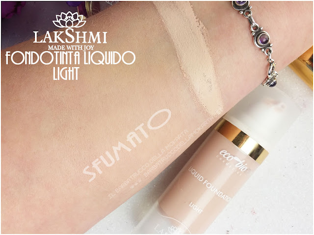 fondotinta liquido swatches liquid foundation lakshmi makeup vegan ecobio
