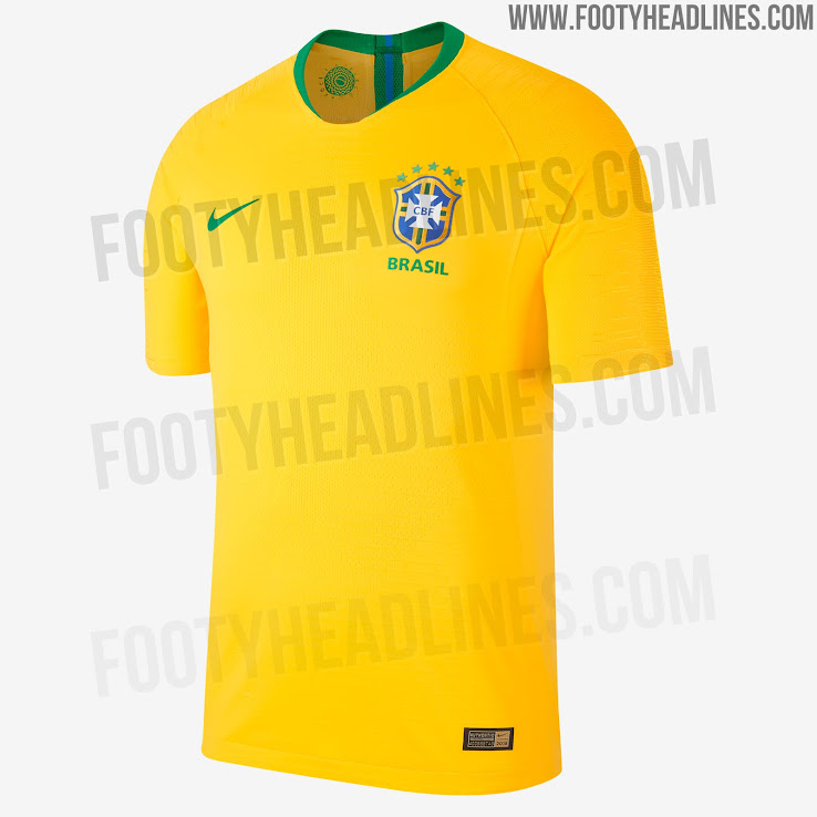 e47717dd6 Brazil 2018 World Cup Home Kit Released - Footy Headlines