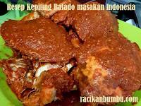 Resep Kepiting Balado masakan Indonesia khas padang Sumatra Barat