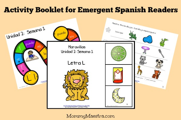 Activity Booklet for Emergent Spanish Readers
