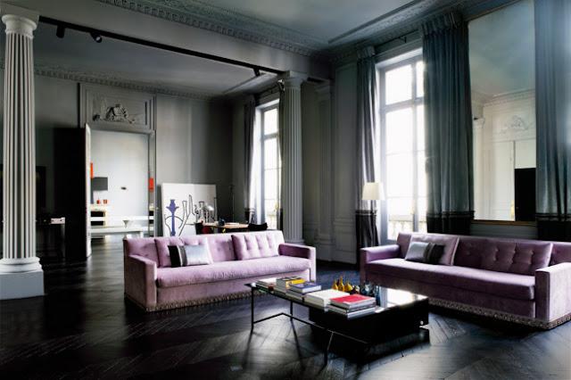 Noir blanc un style for Interieur haussmannien