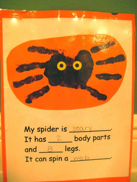 Writing Spider Craft Kindergarten