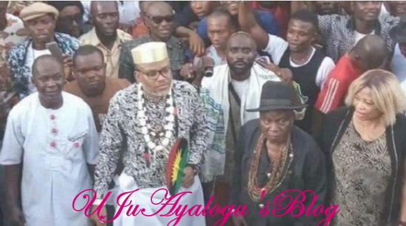 Nnamdi Kanu Allegedly Committed Taboo In Anambra Community, Chased From Palace