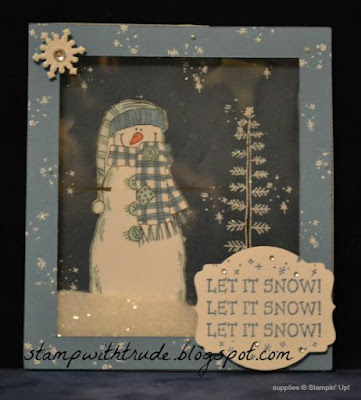 Let it Snow, Stampin' Up!, Throwback Thursday, Trude Thoman, shaker card