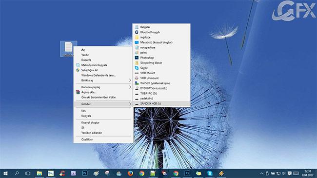 Windows 10 da Gönder Menüsü Nasıl Özelleştirilir