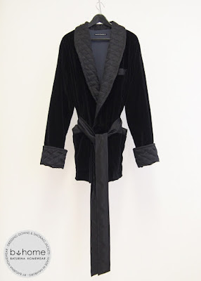 Classic mens smoking jacket short robe black grey velvet silk cotton luxury bespoke dressing gown english style