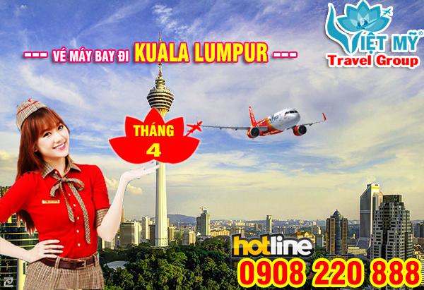 Giá vé máy bay đi Kuala lumpur tháng 4