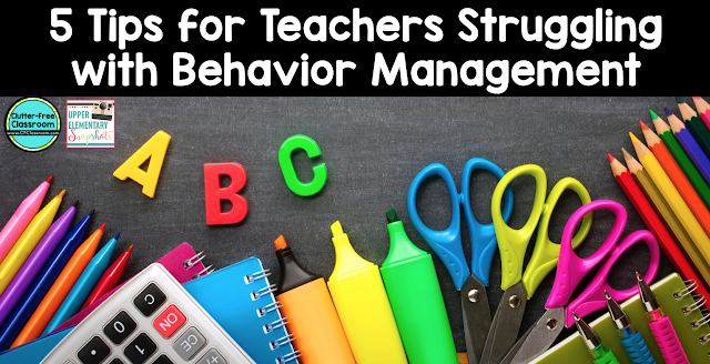 Are you struggling with behavior management in your elementary classroom? This article will share 5 tips that will help teachers effectively manage their classrooms and provide students with more time on task and increased learning.