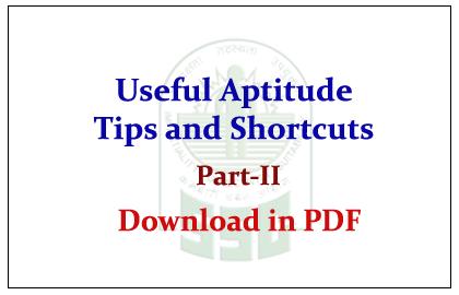 Useful Aptitude Math shortcut Methods and Formulas Part-II