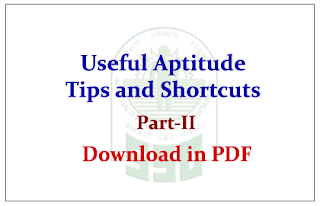 Useful Aptitude Math shortcut Methods and Formulas Part-II