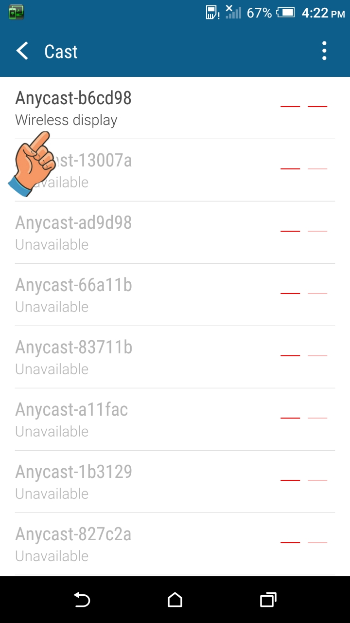 Anycast M9 Plus: ANDROID