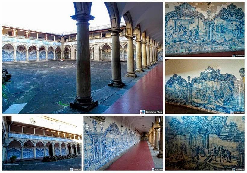Painel com azulejos portugueses no claustro do convento São Francisco - o que fazer em Salvador