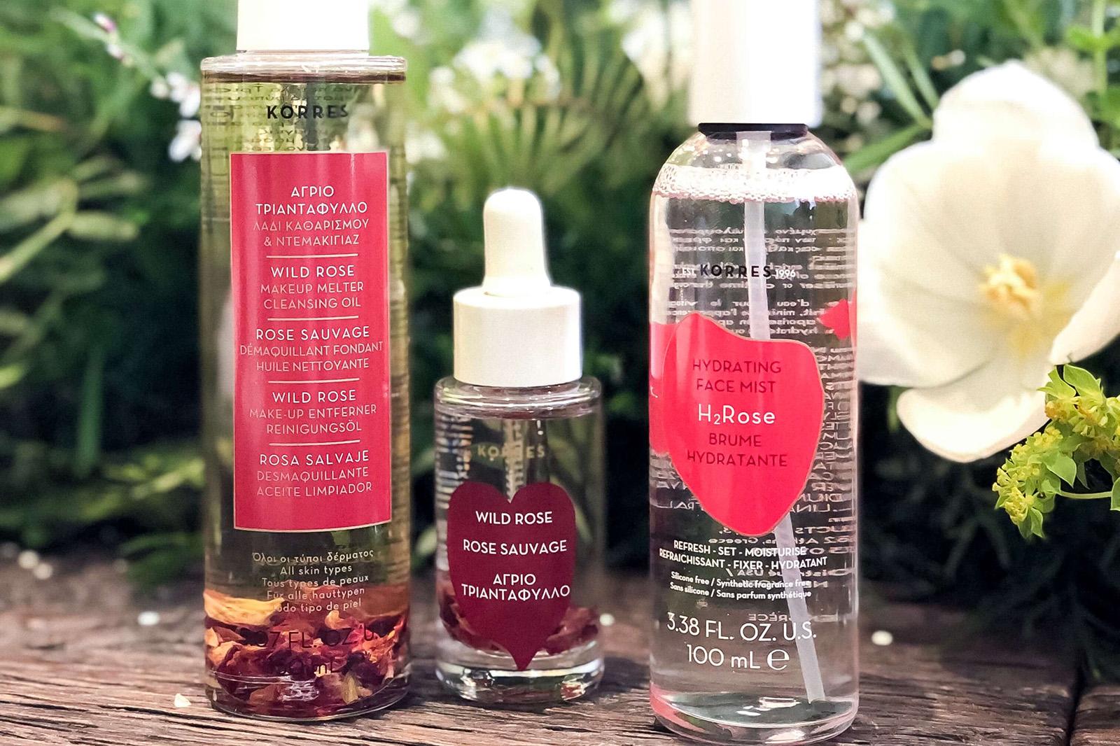 korres nouveautés soins rose huile demaquillante brume