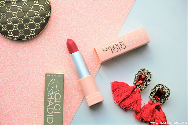 Maybelline x Gigi Hadid Lipstick in Khair Review