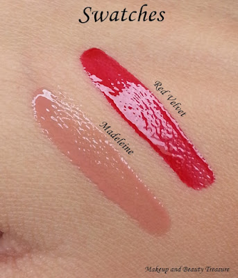 NYX Butter Gloss red velvet swatch
