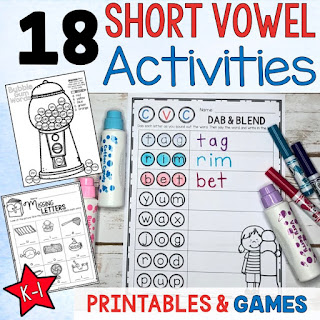 Short Vowel CVC ideas