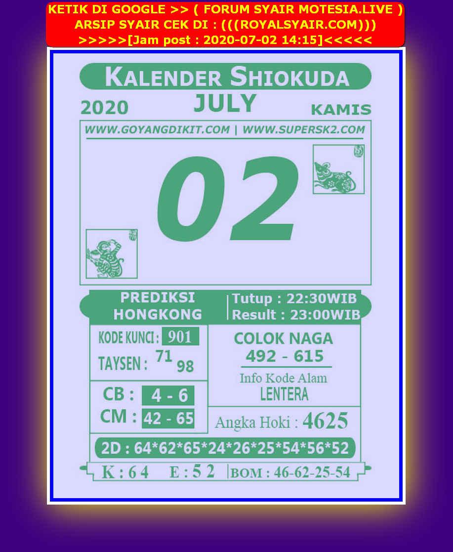 Kode syair Hongkong Kamis 2 Juli 2020 266