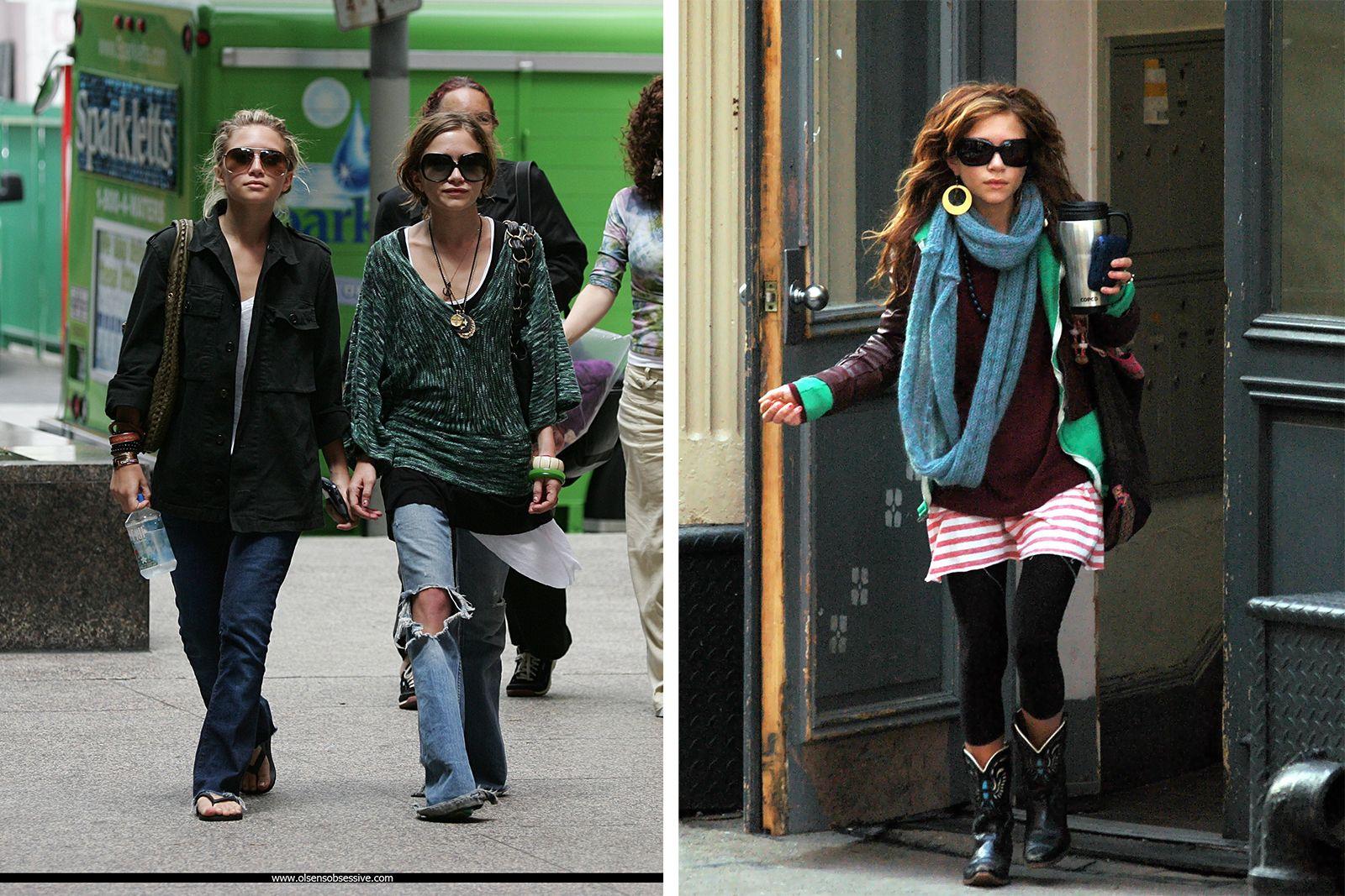 Estilo boho Mary Kate Olsen