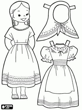 israeli clothing coloring pages - photo#1