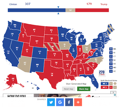 Three Weeks Out - First Prediction of US Election