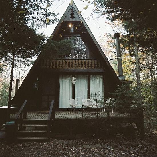 House Home: Moon To Moon: A Frame (Triangle) Houses