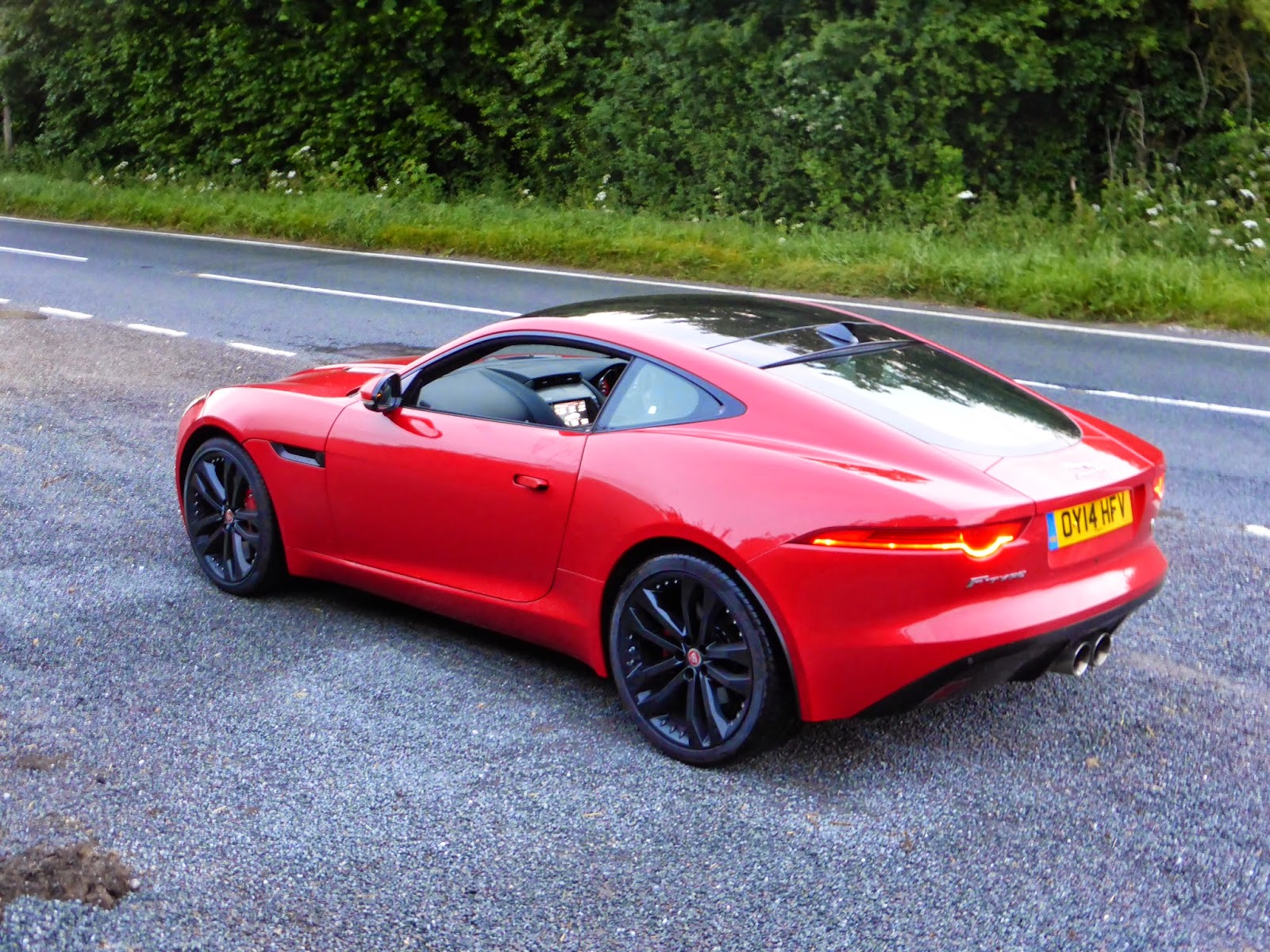 Jaguar F Type Coupe V6 S In Salsa Red