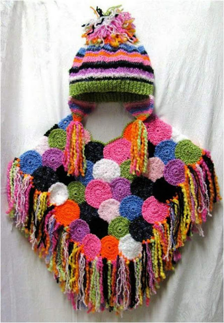 Capas y Ponchos para niñas a Crochet