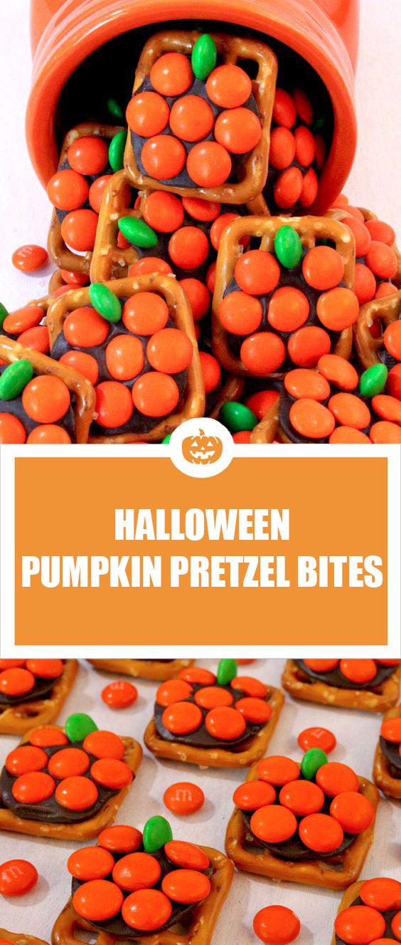 Pumpkin Pretzel Bites