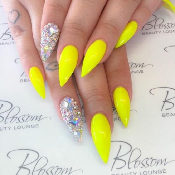 2016 New Yellow Nail Art Ideas 2016 Fashion Newby S