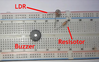 ldr, buzzer, resistor