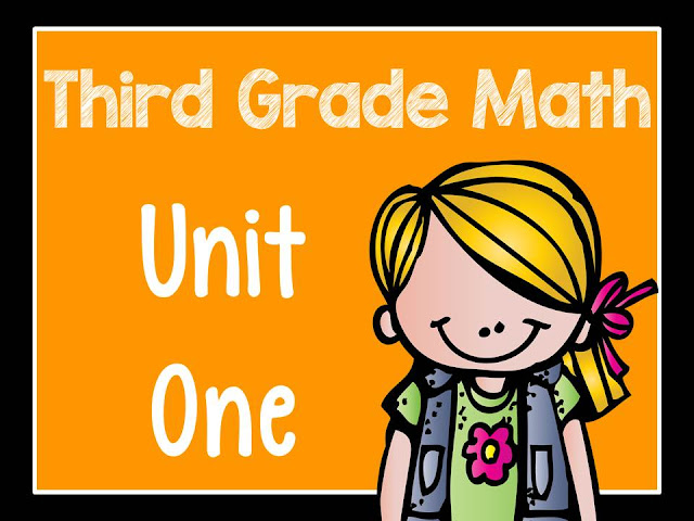 Fern Smith's Classroom Ideas Third Grade Math - Unit One - Task Cards, Color Your Answer Printables and Center Games with Printables for sale at TeachersPayTeachers.