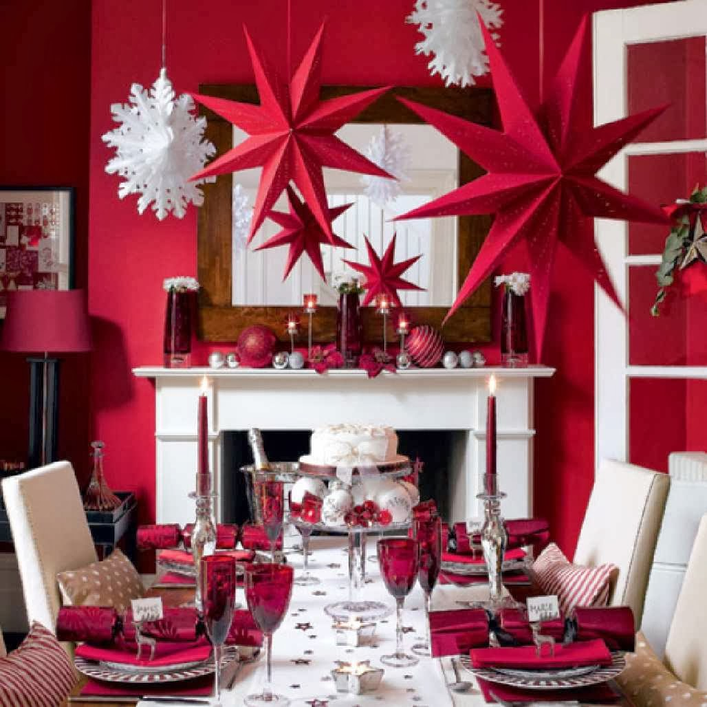 Holiday Home Design Ideas: Brocade Design Etc: Wonderful Christmas Home Decorations
