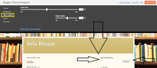 How to Set Side bar On Google blog Theme