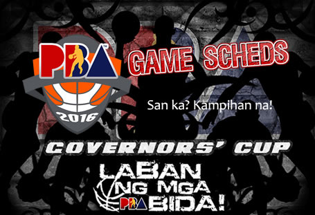 List of Game Schedules: PBA Governors' Cup 2016