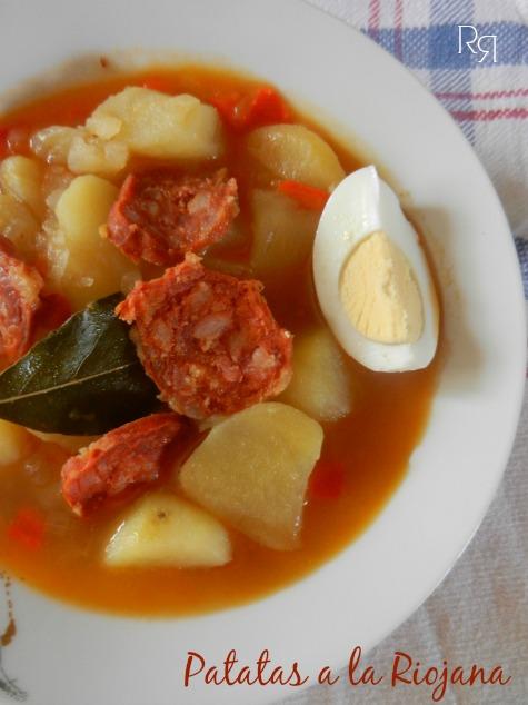 """Patatas a la riojana o patatas con chorizo"""