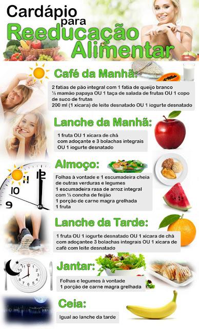 Cardápio reeducação alimentar