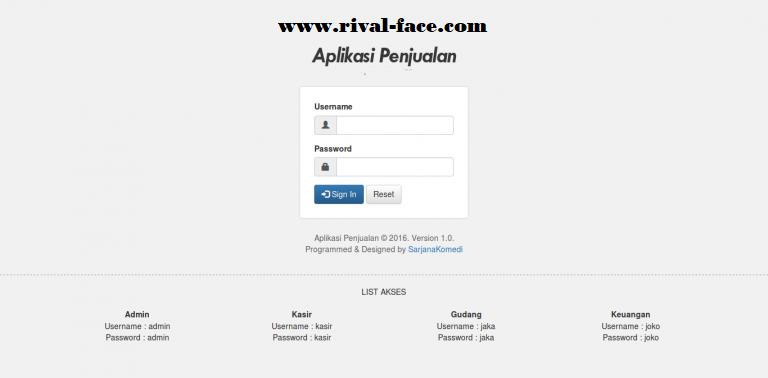 Source Code Aplikasi Penjualan (Kasir) Versi 3.4 Frame