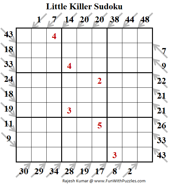Little Killer Sudoku Puzzles (Fun With Sudoku #317)