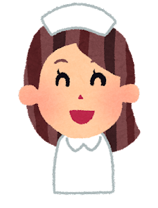 女性看護師の表情のイラスト「笑った顔」