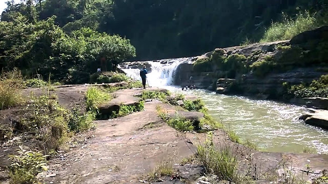 Nafakhum waterfall at Remakri Bazar in Bandarban