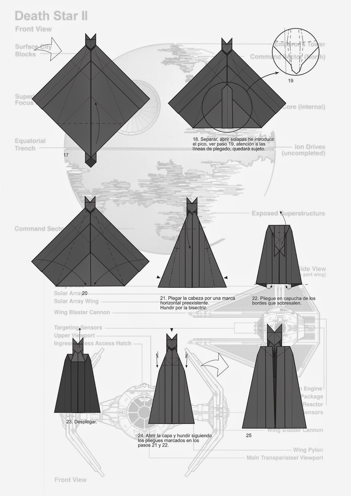 DIS.MITH: Darth Vader origami diagram - photo#5